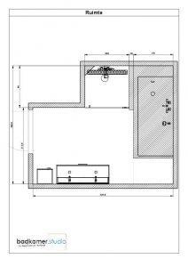 Badkamerstudio urk w badkamer partner for Tekening badkamer maken